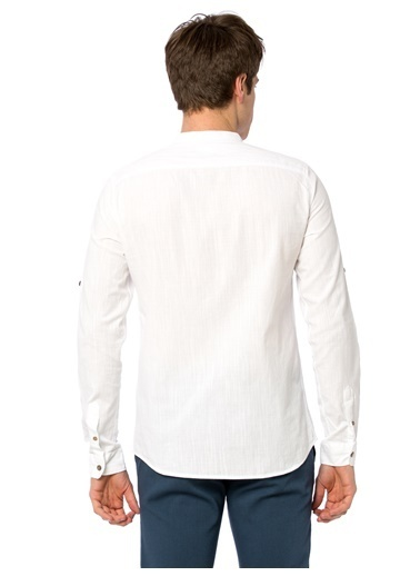 LC Waikiki Hakim Yaka Uzun Kollu Gömlek Beyaz